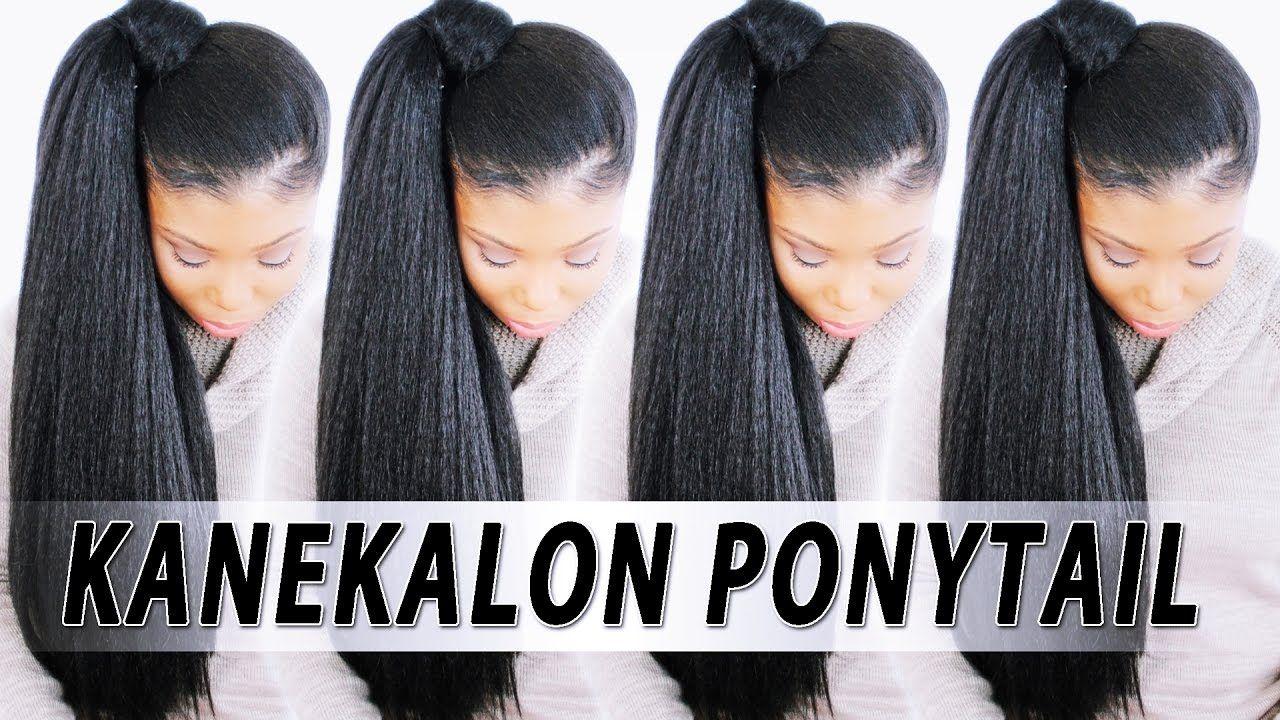 5 High Ponytail W Kanekalon Braiding Hair Youtube Ebony