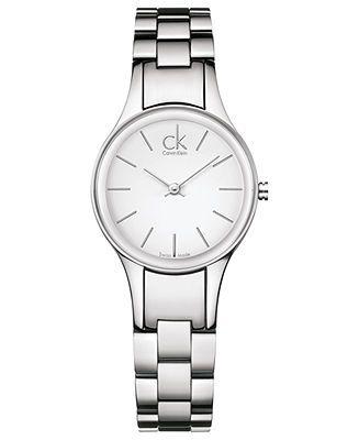 ck Calvin Klein Watch, Women's Swiss Simplicity Stainless Steel Bracelet 28mm K4323126 - Watches - Jewelry & Watches - Macy's