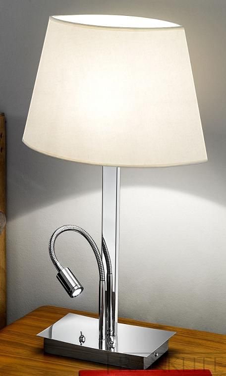 Lovely The Franklite Elliptical Table Lamp Is In A Modern Chrome Finish And A  Rectangular Section Design. The Elliptical Table Lamp With LED Reading  Light By ...