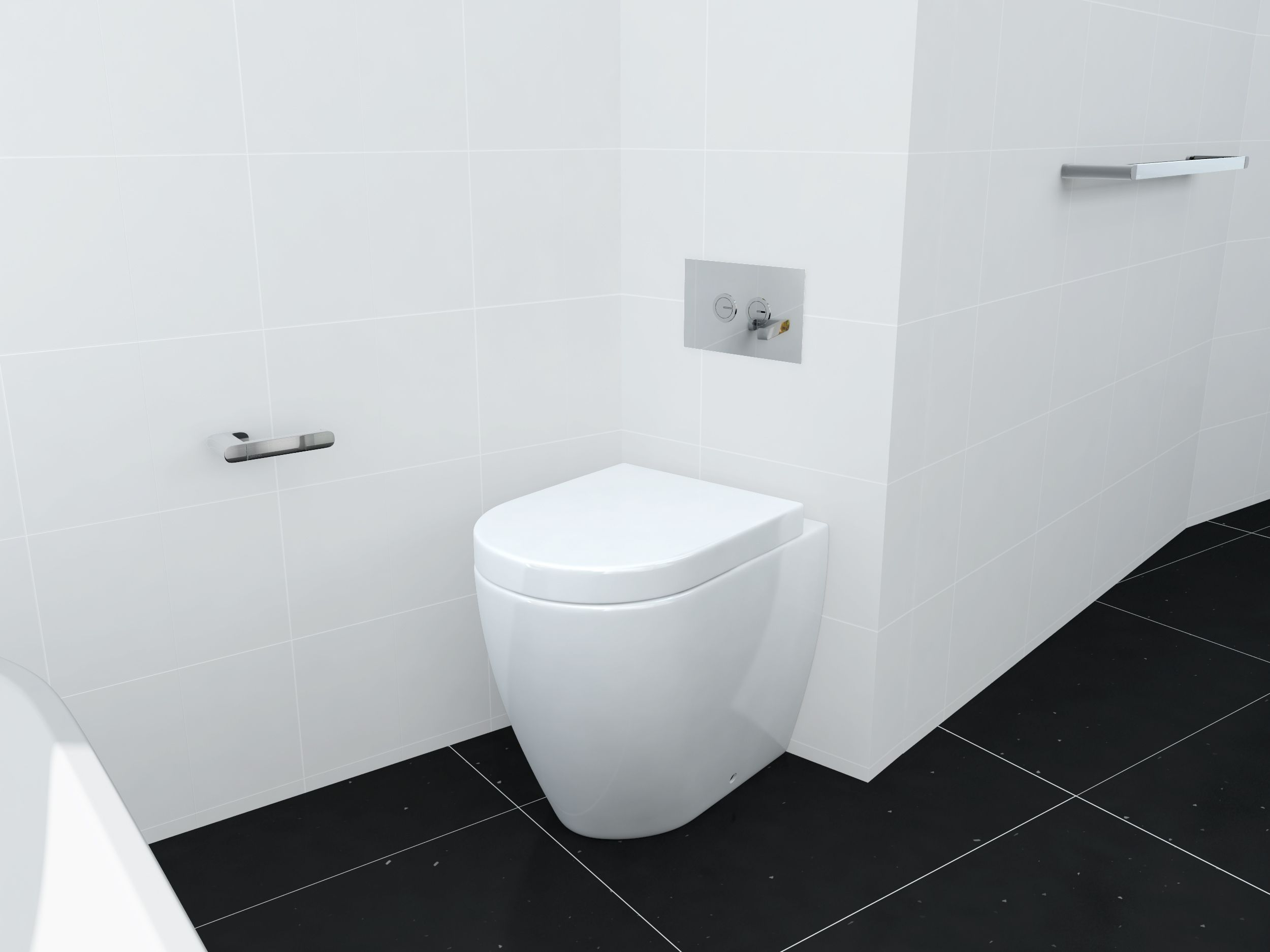The Jeffrey Concealed Cistern Floor Mounted Toilet From William Douglas  Optimises The Space Making More Roaming Room Around The Tub. Part 95