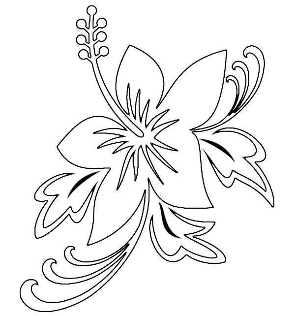 Fleur hawa enne coloriages fleur hawa enne pages - Fleure hawaienne ...