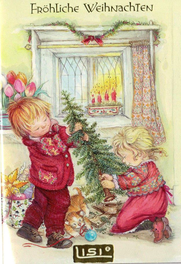 11034723 lisi martin weihnachtskarte klappkarte m glitter. Black Bedroom Furniture Sets. Home Design Ideas