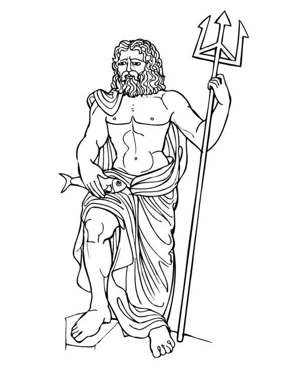Myths God Poseidon From Greek Gods And Goddesses Coloring Page Netart Greek Gods And Goddesses Gods And Goddesses Greek Gods