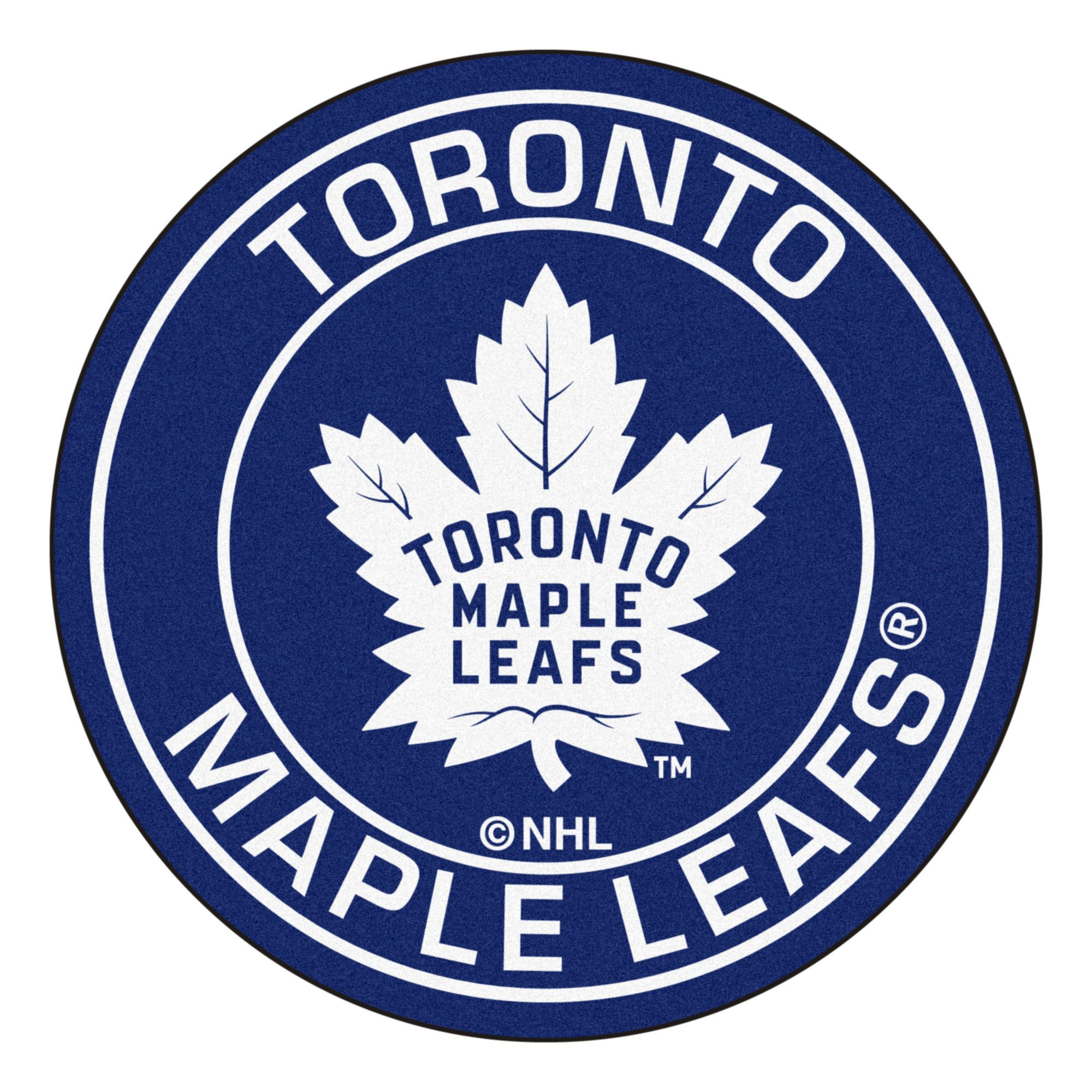 NHL Toronto Maple Leafs Rounded Non-Skid Mat Area Rug in ...