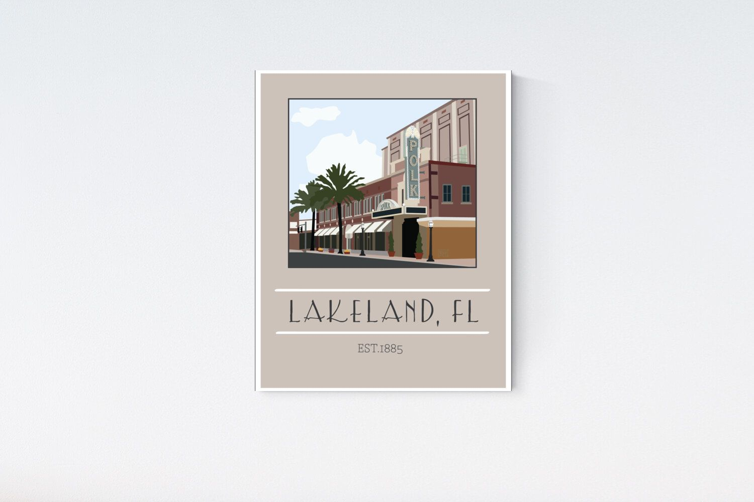 Polk Theatre Lakeland Landmark Lakeland Downtown Lakeland Florida 11x14 Mockingbirdartist In 2020 Lakeland Lakeland Florida Polk
