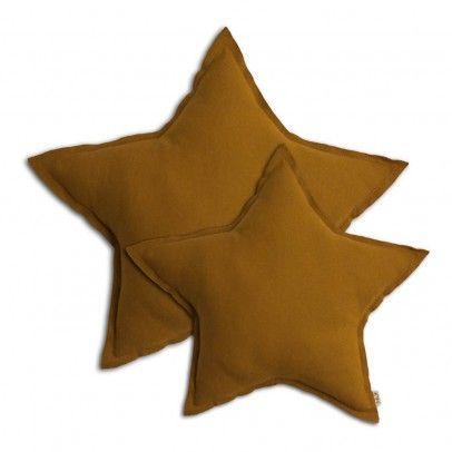 Coussin étoile - Jaune moutarde  Numero 74