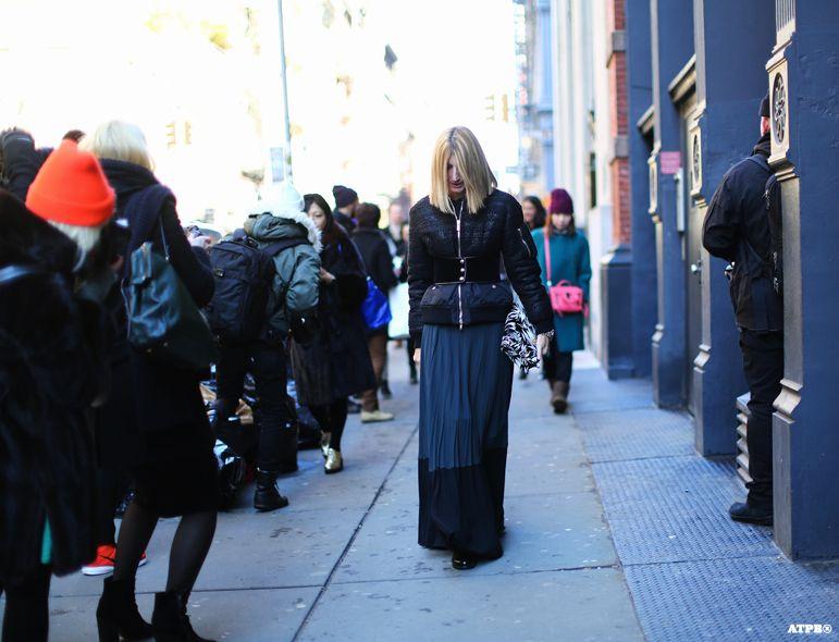 Sarah Rutson at New York Fashion Week F/W 2014-15