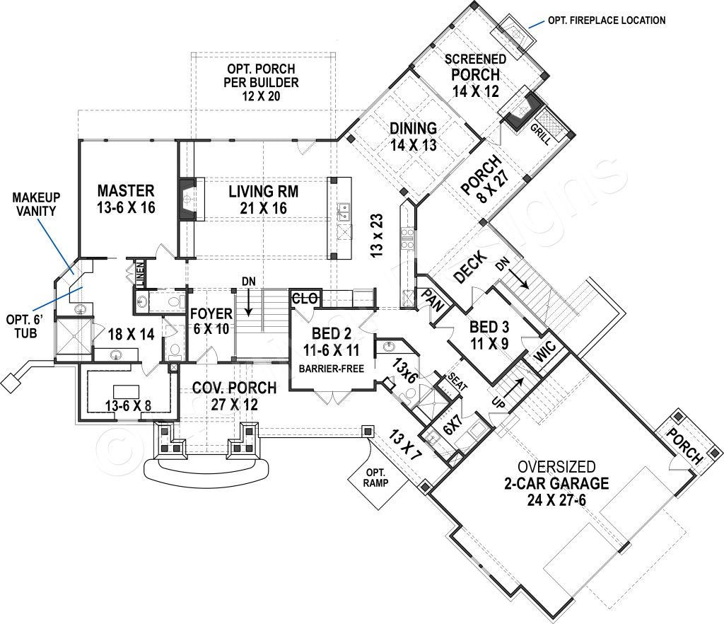 Harmony Ranch House Plan Lakefront Floor House Plan Harmony Ranch House Plan First Floor Plan Craftsman House Plans House Plans Ranch House Plan