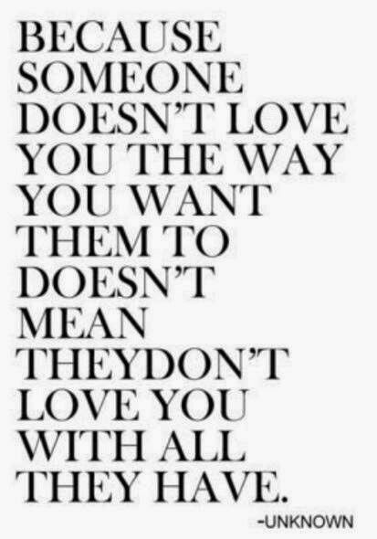 To bad more people don't understand that love doesn't fit