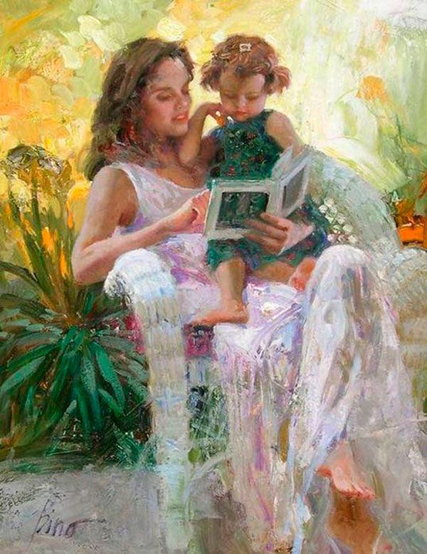 Мать и дочь картинки художников, открытки деньгами