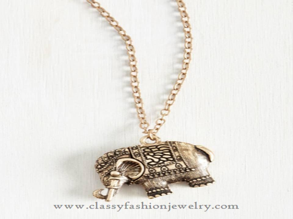 Elephant Pendant Necklace Designs, Elephant Pendant Chain Necklace Designs.
