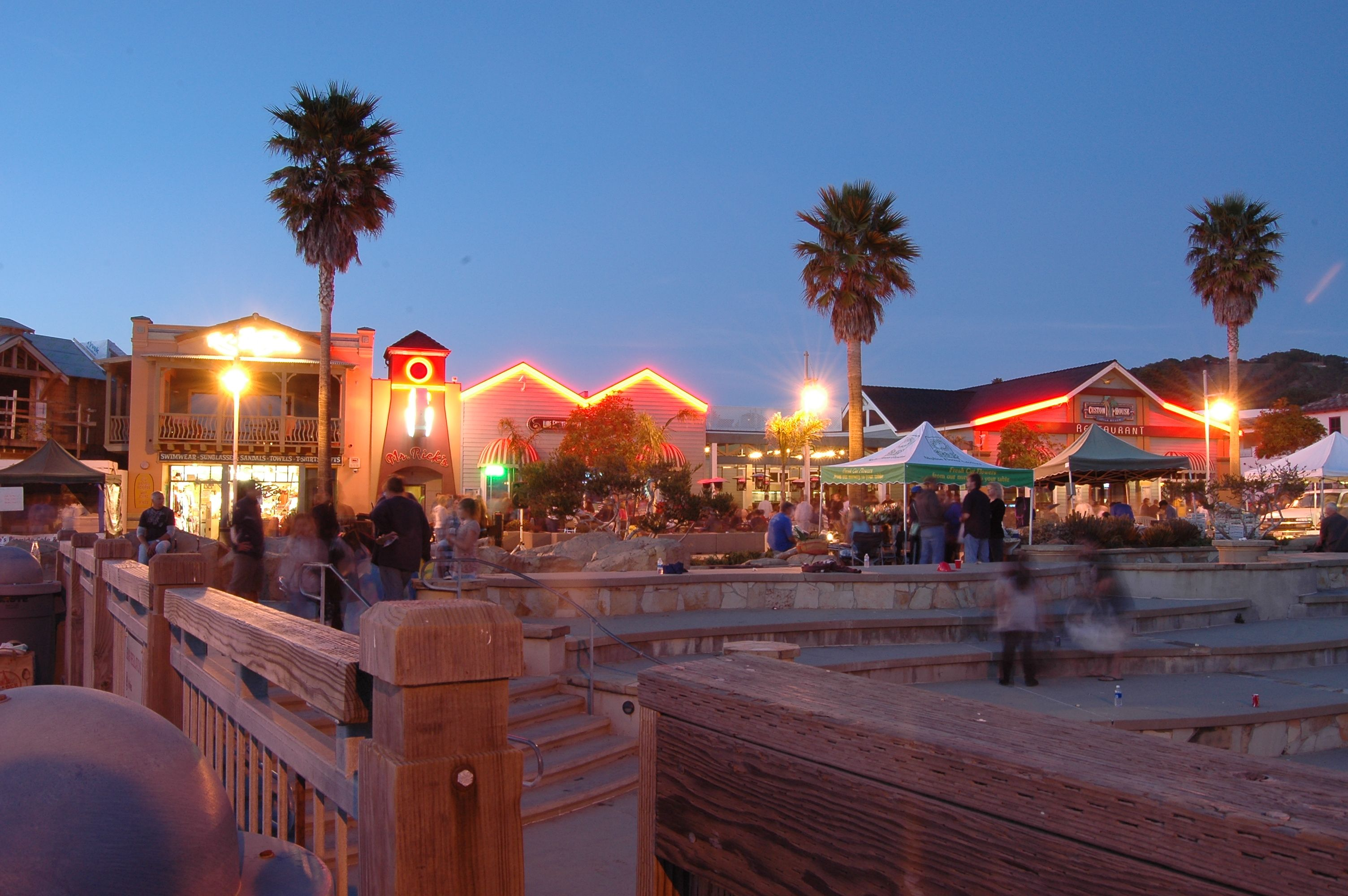 Nighttime At The Avila Beach Fish Farmers Market
