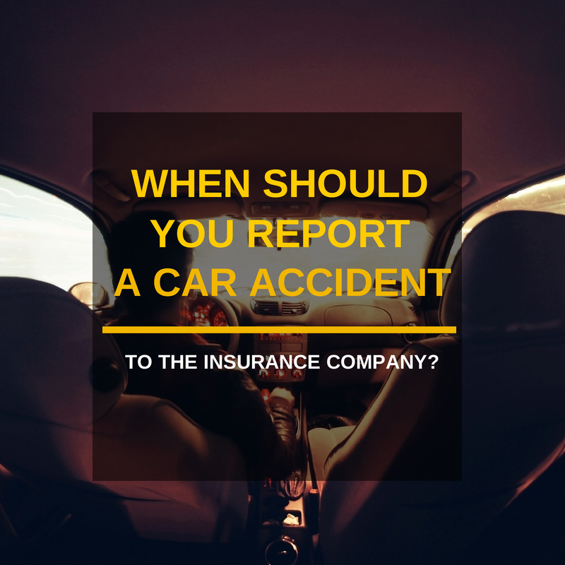 When you should report an accident to the insurance