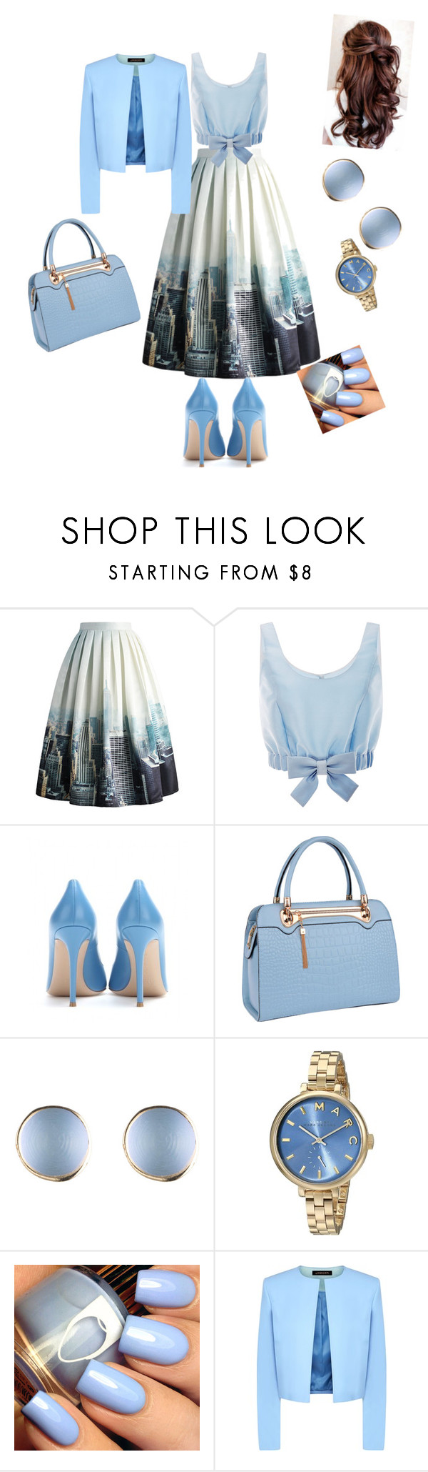 """Untitled #104"" by evonnunoo ❤ liked on Polyvore featuring Chicwish, Honor, Gianvito Rossi, Relaxfeel, Marc Jacobs and Jaeger"