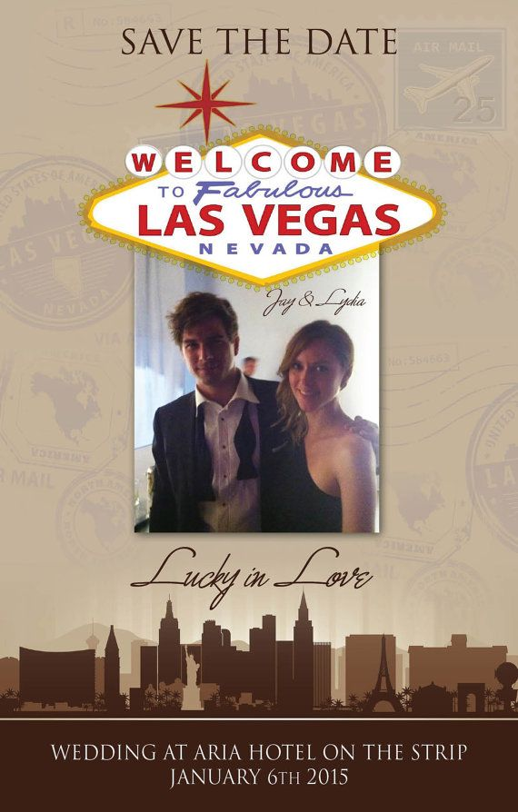 Vegas Lucky in Love Save the DateWelcome