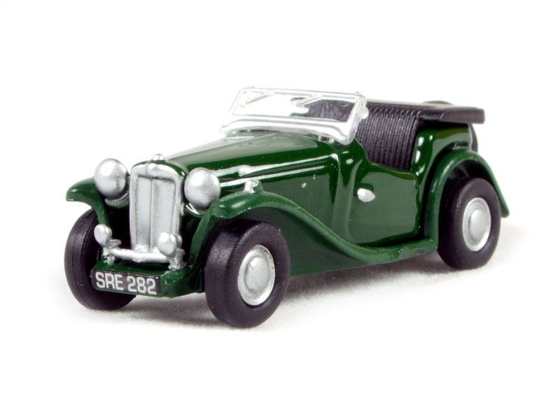 Oxford Diecast Model Cars British Racing Green MGTC