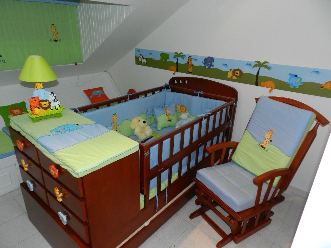 Cama cuna cama cunas pinterest cama cuna camas y mono - Ver habitaciones infantiles ...