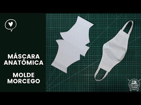 Photo of Máscara Anatômica de Proteção – Molde Morcego 3D – Super Fácil de Fazer