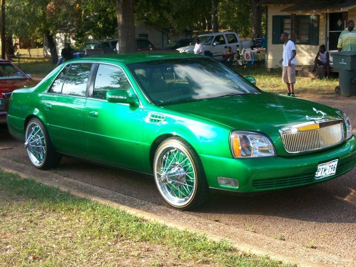 Check out customized CandyGreenThangs 2000 Cadillac DeVille DTS