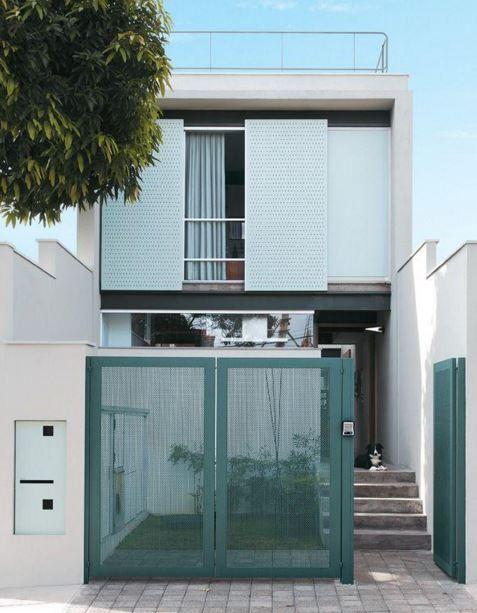 Fachadas para casas peque as 5 metros de frente calabaza for Fachadas de casas de 6 metros de frente modernas