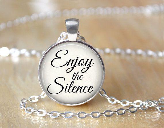 Enjoy the Silence  Music Lyric Quote by ShakespearesSisters, $10.00 Depeche Mode Lyrics