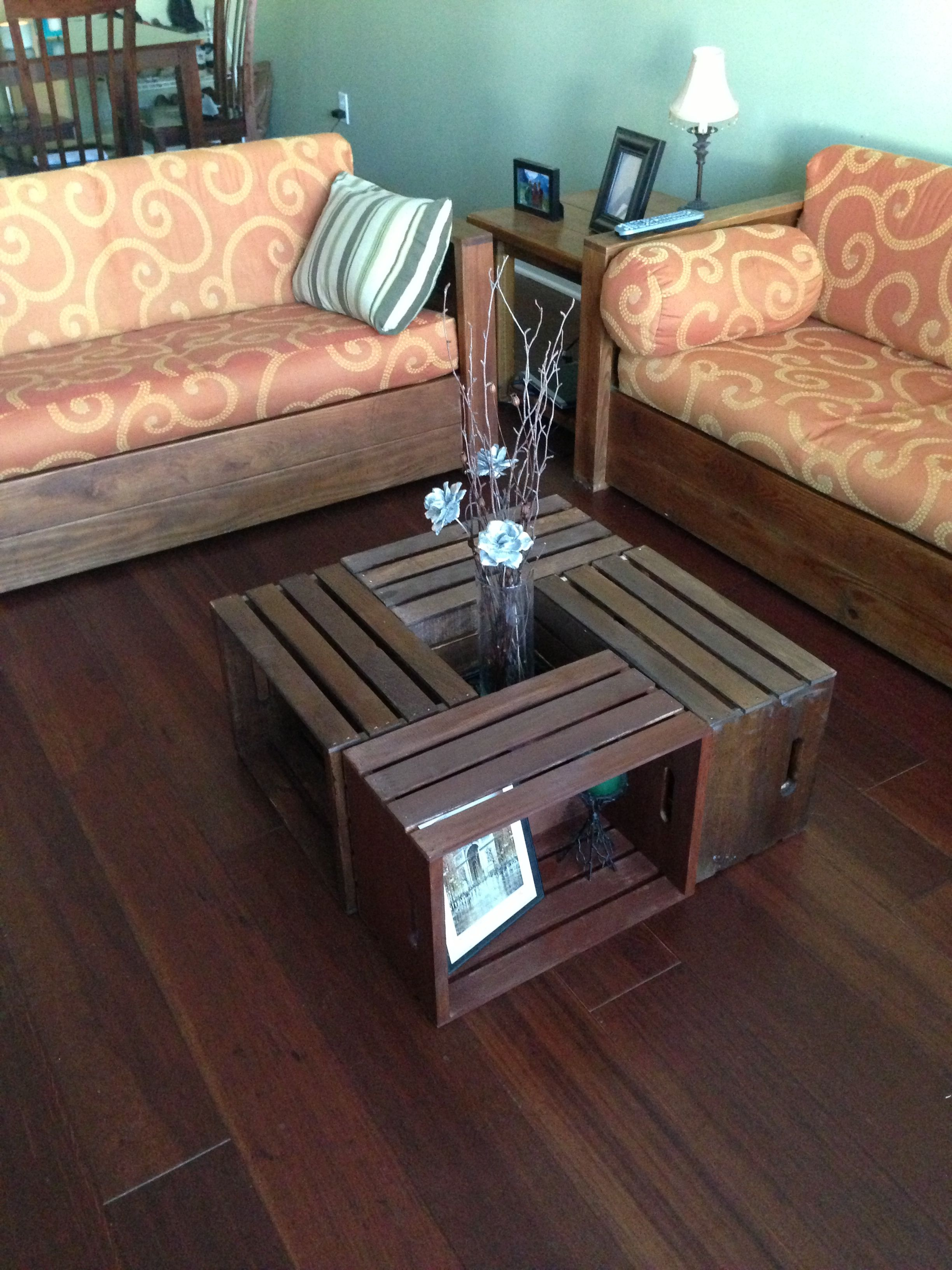 Diy living room table attach board to bottom for stable center