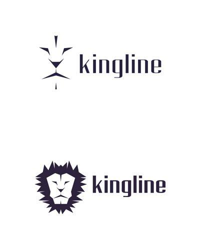 kingline, king, lion, experimental concept, logo design for sale
