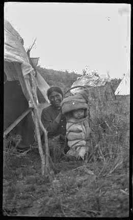 Apache Indians Mother With Child. Photo Taken in 1906