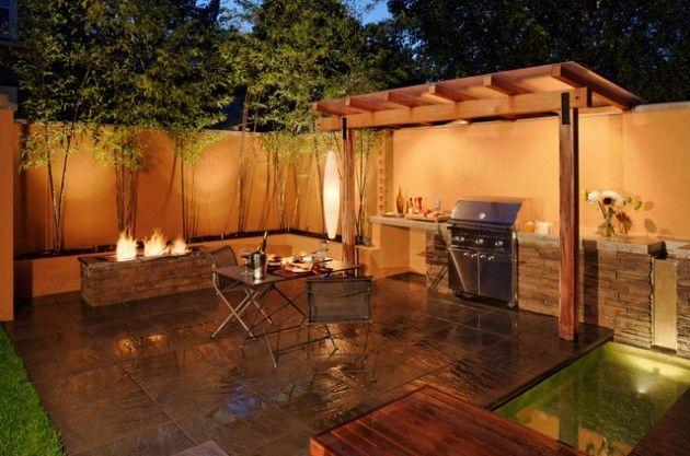 15 Dramatic Landscape Lighting Ideas Home Design Lover Outdoor Bbq Kitchen Patio Design Backyard Barbecue Design