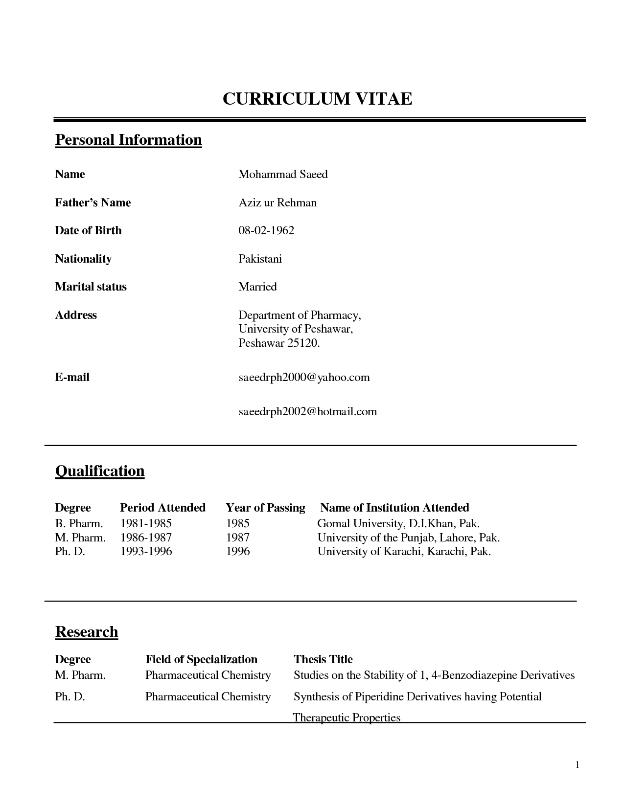 teachers CV Educators\' Professional Résumés has been supporting ...