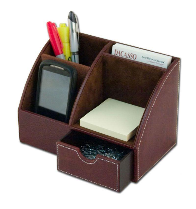 Leather Desktop Organizer Desktop Organization Leather Desk
