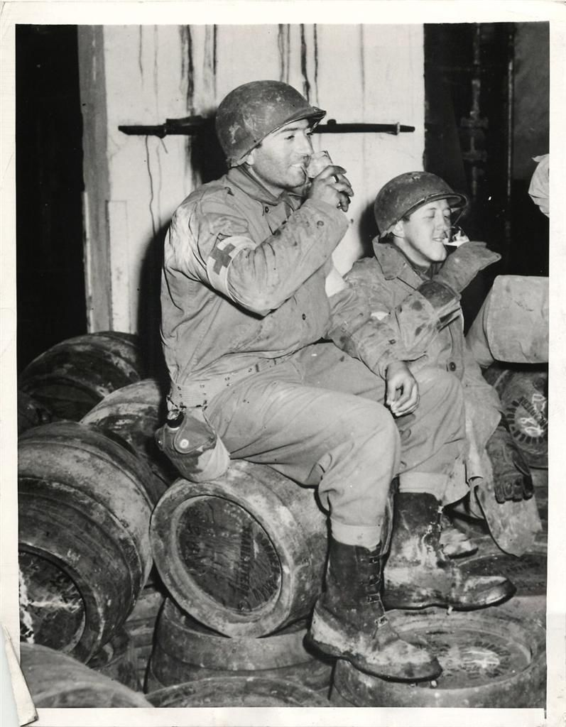 Day reenactment ww ii pictures pinterest - 1944 U S Medics Sample Beer In A Captured German Brewery In Saarlautern On The 3rd