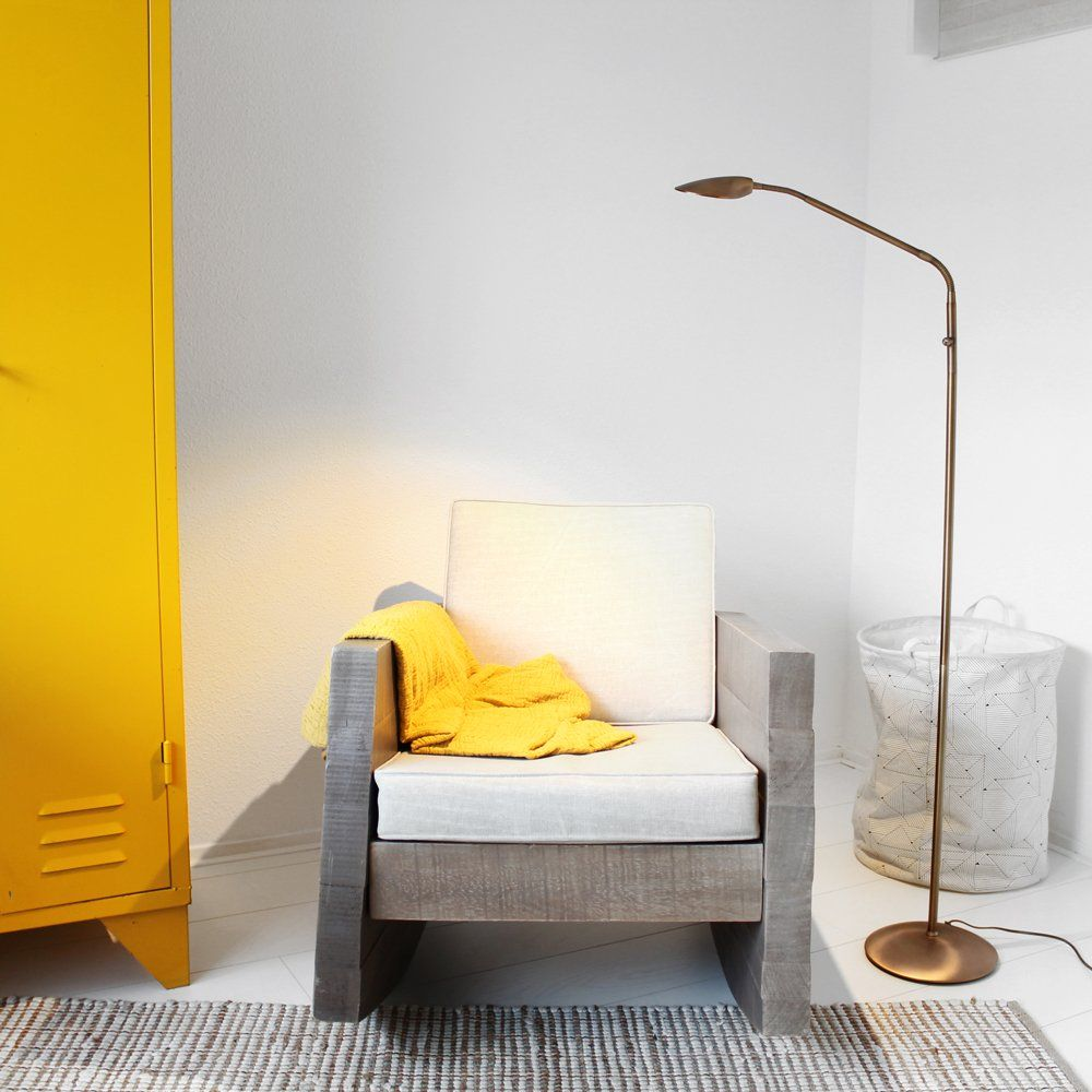 Staande leeslamp LED Mexlite 7492BR brons   Verlichting - vloer ...