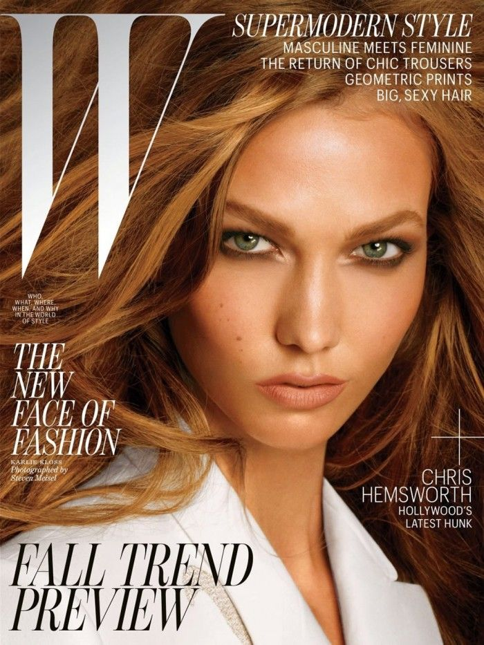 W Magazine July 2012 Cover  Steven Meisel – Photographer | Edward Enninful – Fashion Editor | Oribe – Hair Sylist | Pat McGrath – Makeup | Anthony Palermo – Hair Colorist | Jin Soon Choi – Manicurist | Karlie Kloss – Model