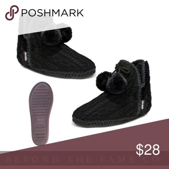34ff3d5c069 Muk Luks Women's Amira Boot Slippers - Black Boutique | My Posh ...