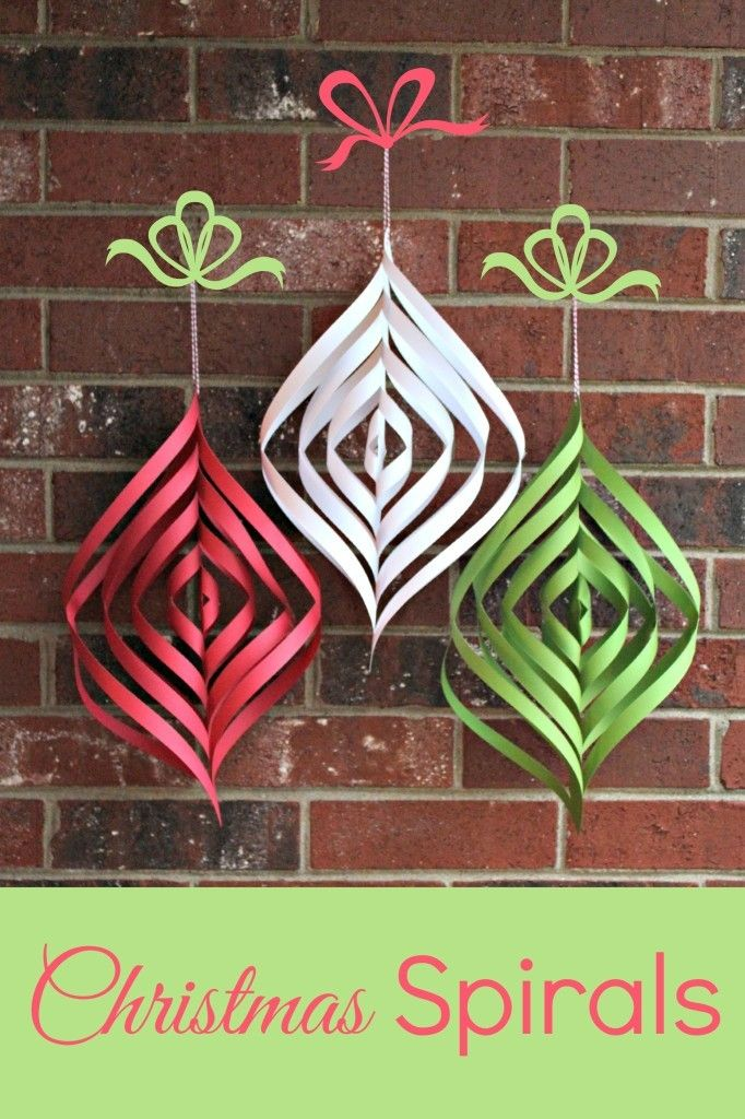 DIY Christmas Spirals Paper decorations craft wall decor
