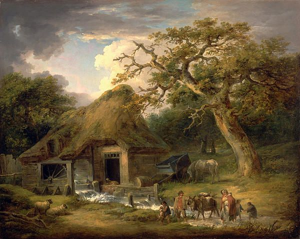 The Old Water Mill  George Morland