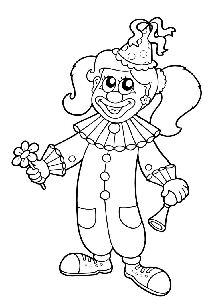 Clown Karneval Ausmalbild Madchen Children Print Carnival Kostenlose Ausmalbilder Ausmalbilder Fasching Ausmalbilder