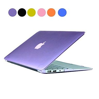 Solid Color PC Hard Case with Crystal for MacBook Air 13\
