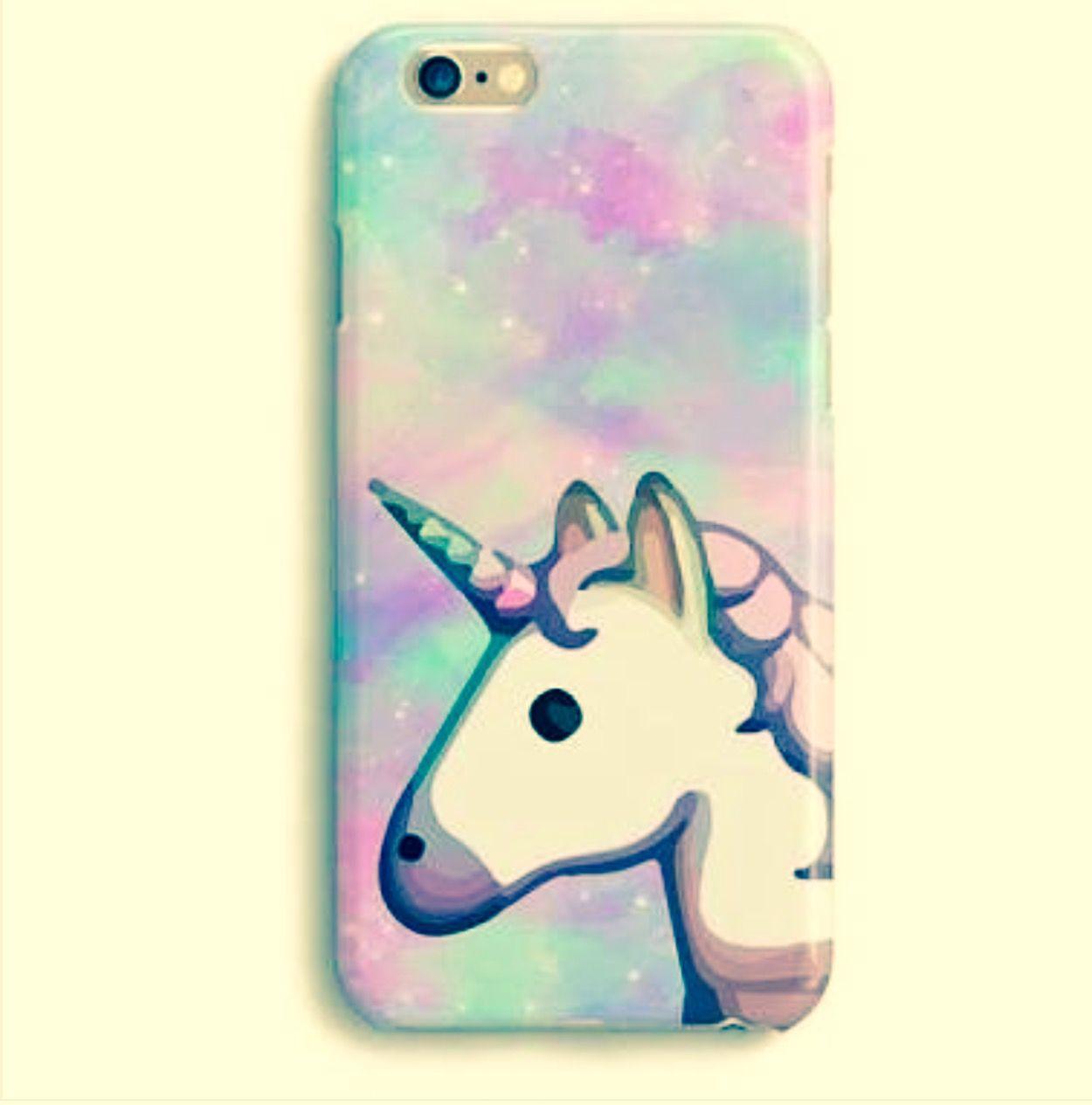 Emoji Unicorn Glitter Hearts Phone Case