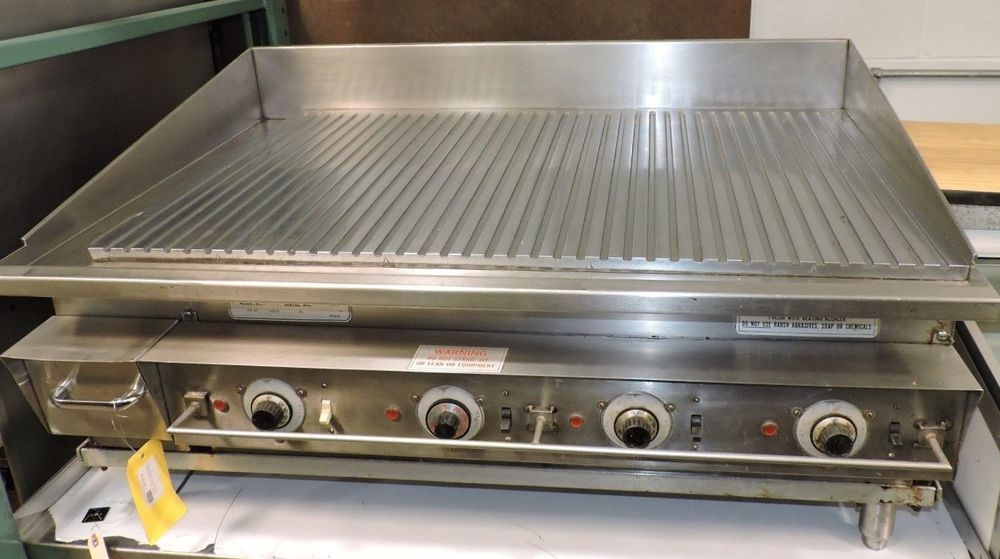 Keating 42flde Miraclean Commercial Electric Ribbed Griddle Ebay Commercial Electric Griddles Electric Griddle