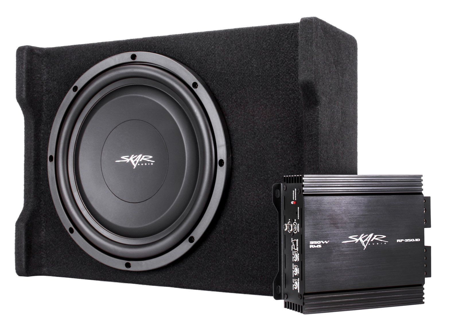 skar audio single watt loaded shallow subwoofer enclosure skar audio single 400 watt loaded shallow subwoofer enclosure bass package amplifier and wiring