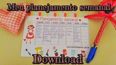 Download planner para planejamento semanal