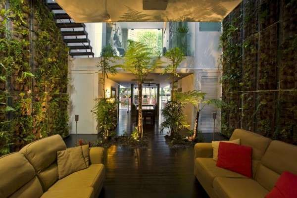 Indoor Forest Homes Eco Friendly Interior Green House Design Eco Friendly House