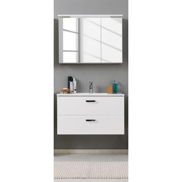Waschtisch-Set Zeehan (2-teilig) - Weiß - 100 cm Badezimmer-Träume
