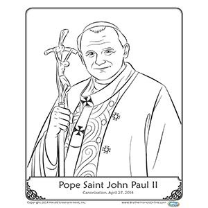 Herald Store Free Pope John Paul Ii Coloring Pages With Images