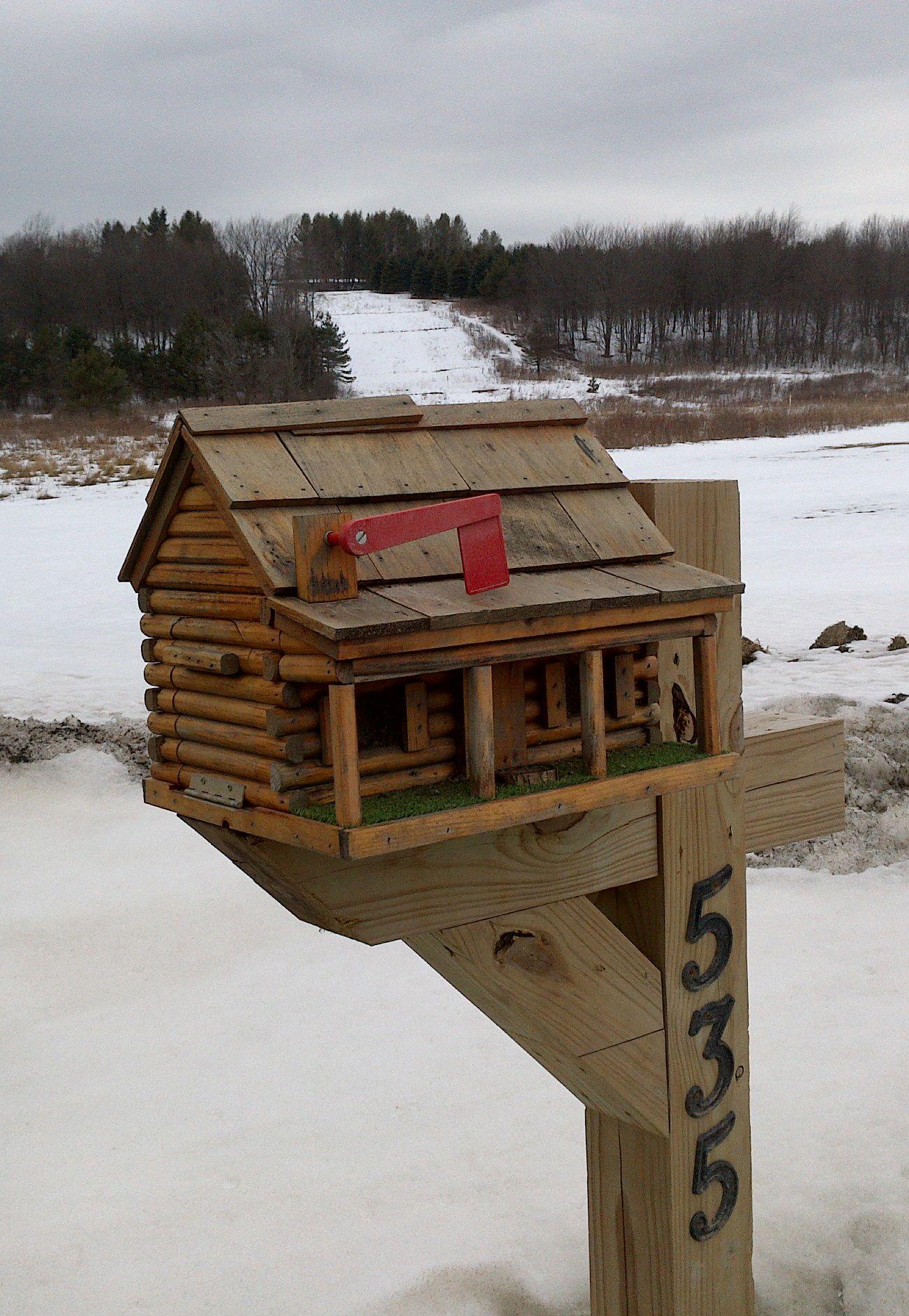 Log Cabin Mailbox NY County USA