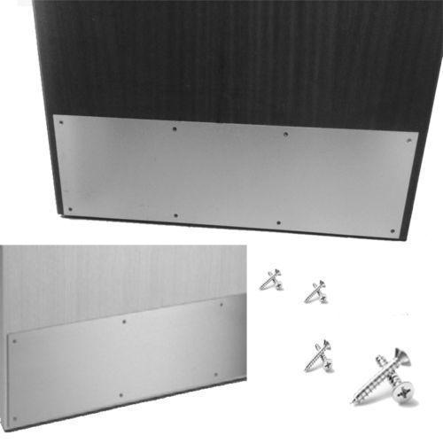 Kick Plate Aluminium Bottom Door Protector Kickplate Free Stainless Steel Screws Puertas De Lamina Protector De Puertas Laminas