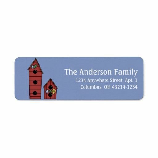 Country Red Birdhouses Return Address Labels