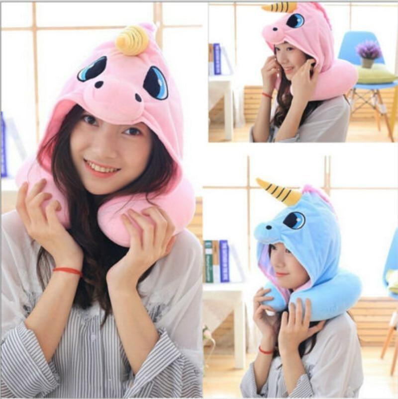 Photo of Hooded Unicorn Neck Pillow